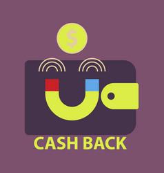 Cash back sale banner template design big sale vector