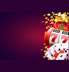 casino winner banner signboard vector image