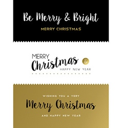 Christmas and new year gold lettering set vector image