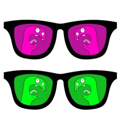 color glasses vector image