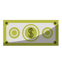 Colorful silhouette of money bill icon without vector