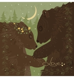 couple hugging bears vector image