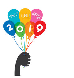 creative happy new year 2019 design vector image