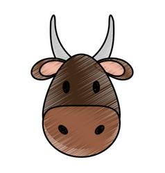 Cute bull design vector