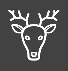 Deer face vector