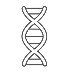 dna thin line icon chromosome and biology vector image