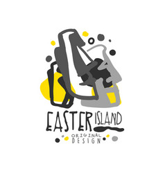 Easter island logo template original design vector