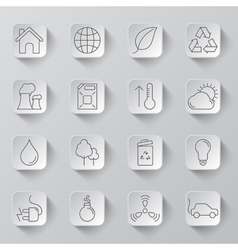 Ecology and Environment Icons vector image