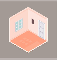 flat 3d isometric empty room vector image