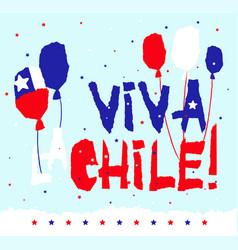 flat fiestas patrias design card with text viva la vector image