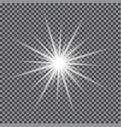 Glowing light star vector