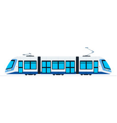 Ground public train flat isolated vector