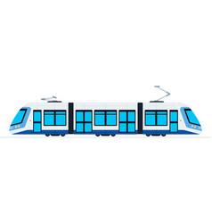 ground public train flat isolated vector image