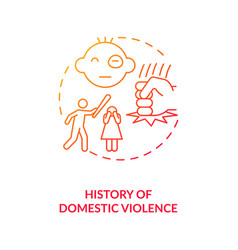 History domestic violence red gradient concept vector