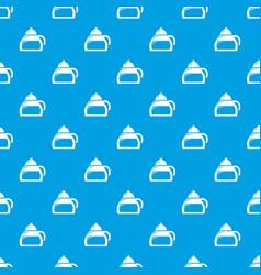 honey tea pattern seamless blue vector image