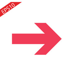 icon red arrow direction on a white background vector image