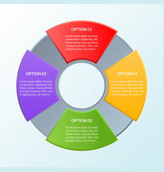 infographic template of four options or workflow vector image