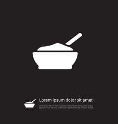 isolated cereal icon porridge element can vector image