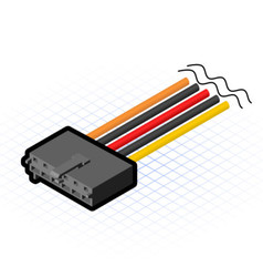 Isometric AUX Connector vector