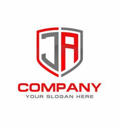 ja initial logo design vector image