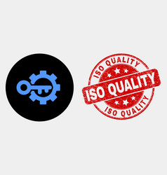 key options gear icon and distress iso vector image