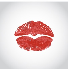 kiss heart lips imprint vector image