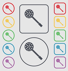 Kitchen appliances icon sign symbol on the Round vector image