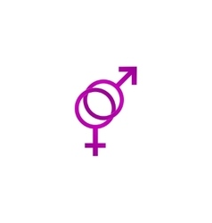 Male and female sex symbol - vector image