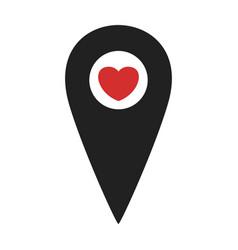 map pin black vector image