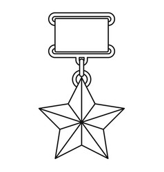 Medal icon thin line vector