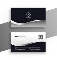 modern black and white business card vector image