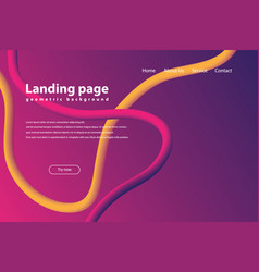 modern landing page and background vector image