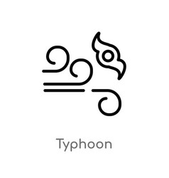Outline typhoon icon isolated black simple line vector