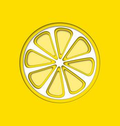 Paper cut yellow lemon cut shapes 3d abstract vector