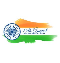 Patriotic happy independence day india vector