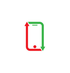 phone arrow business vector image