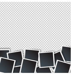 Photo border isolated transparent background vector
