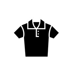 polo shirt icon black sign vector image