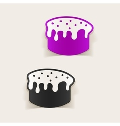 Realistic design element easter cakes vector