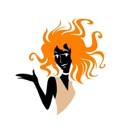 Redhead girl vector image