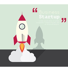 rocket for business startup concept vector image