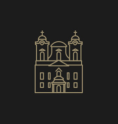 roman catholic church vector image