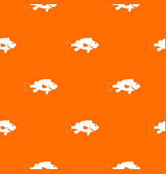 sea bass fish pattern seamless vector image
