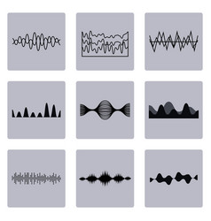 set of waves graphics vector image