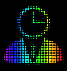 spectral colored pixel time manager icon vector image