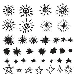 Star doodles vector