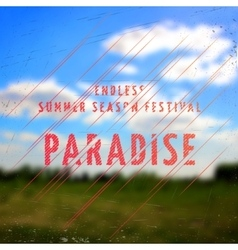 Summer festival paradise badges cards and labels vector image