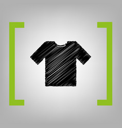t-shirt sign black scribble vector image