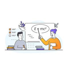 teacher giving seminar vector image