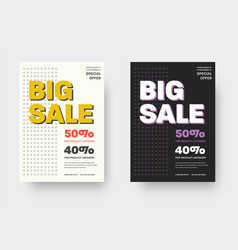 template posters for advertising and vector image